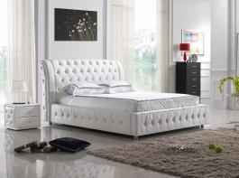 BED B04 QUEEN WHITE