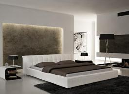 BED S612 WHITE QUEEN
